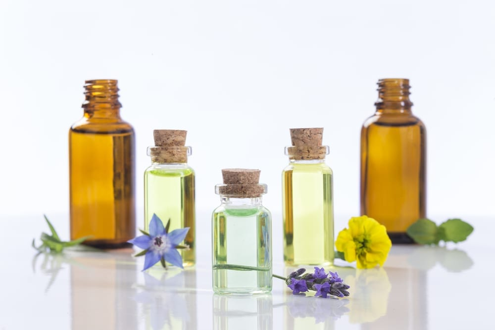 Bottles With Essential Oil