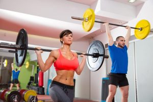 Woman And Man Group Workout