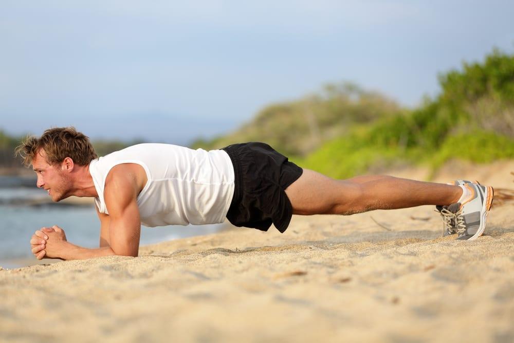 Plank On The Beach
