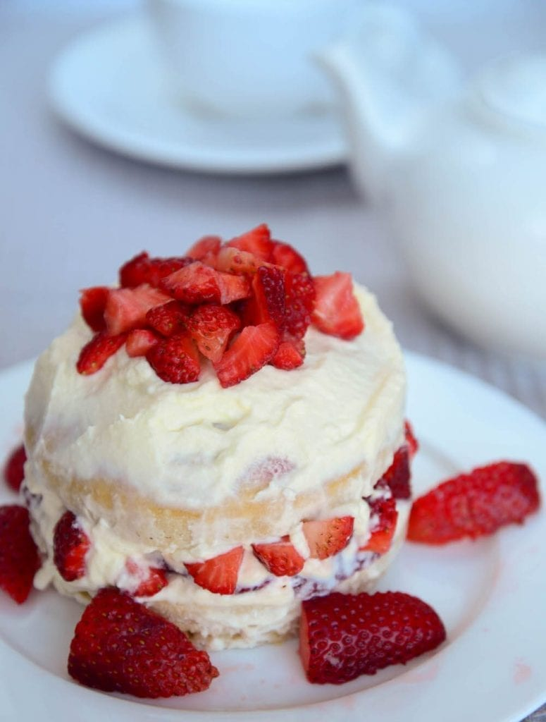 Sugar Free Strawberry Shortcake Served