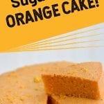 orange cake on a plate