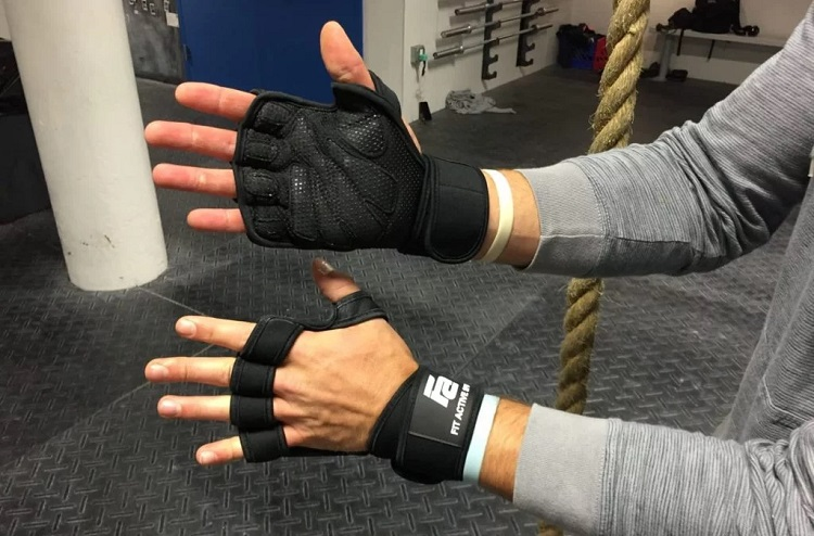 man with fit active gloves