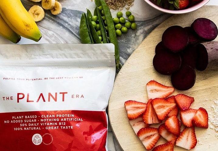 The Plant Era | Organic Vegan Strawberry-Basil Protein Powder